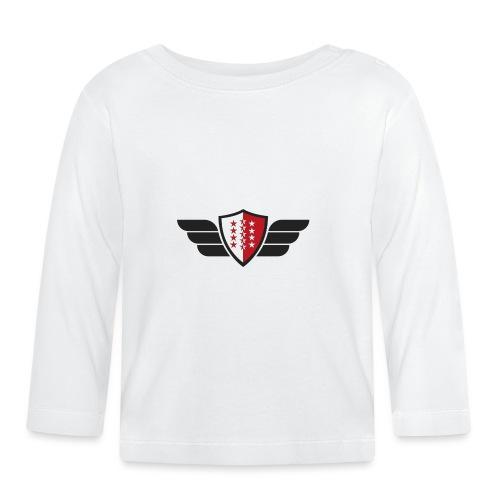 Flying Valais - Walliser Flagge mit Flügeln - Baby Langarmshirt