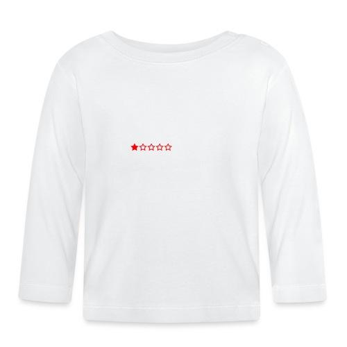 Dårligdommerne Hvid tekst - Langærmet babyshirt