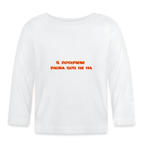 SCRITTA POMPIERE - Maglietta a manica lunga per bambini
