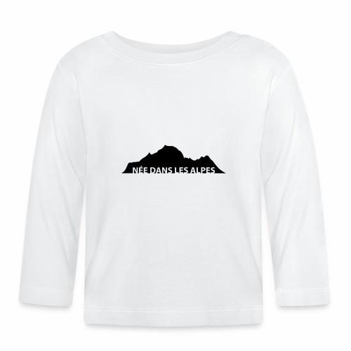 Design féminin née dans les Alpes - T-shirt manches longues Bébé
