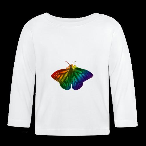 Regenboog vlinder - Freedom, Love en Happiness - T-shirt