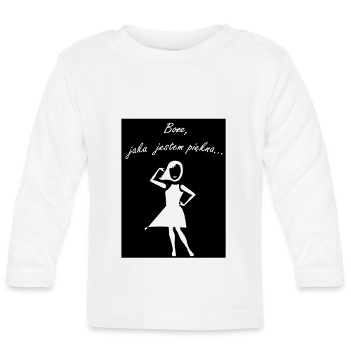Koszulka Boże, jaka jestem piękna - Koszulka niemowlęca z długim rękawem