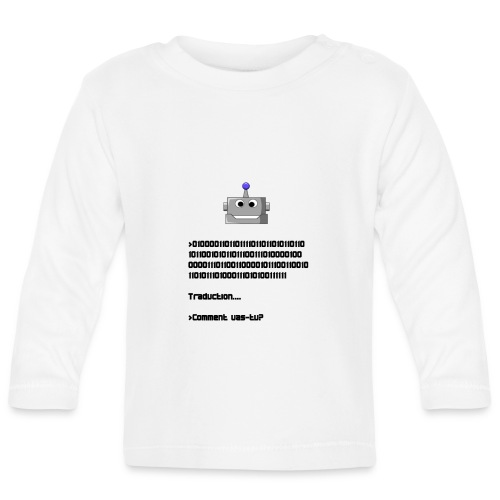 Salutation robotique - T-shirt manches longues Bébé