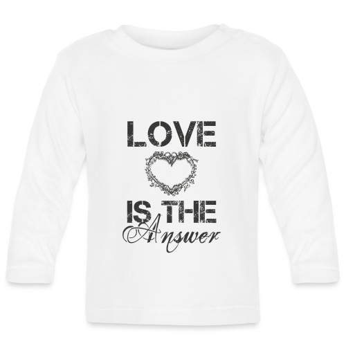 Love is the answer - Baby Langarmshirt