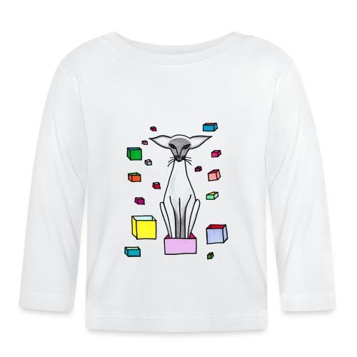 Siames i låda - Långärmad T-shirt baby
