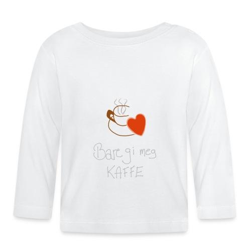 Kaffe - Langarmet baby-T-skjorte