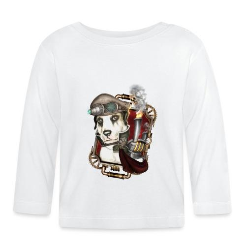Steampunk Dog #1 - Maglietta a manica lunga per bambini