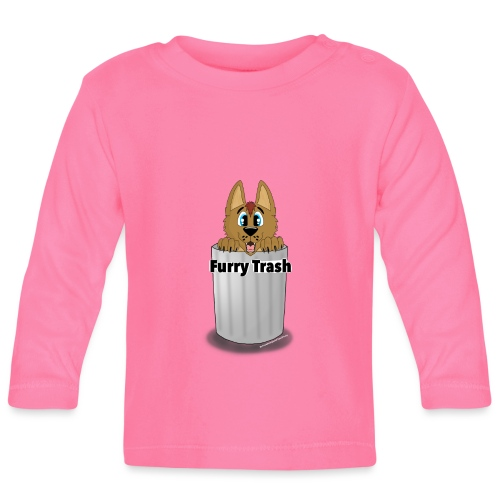 Furry Trash - Langærmet babyshirt
