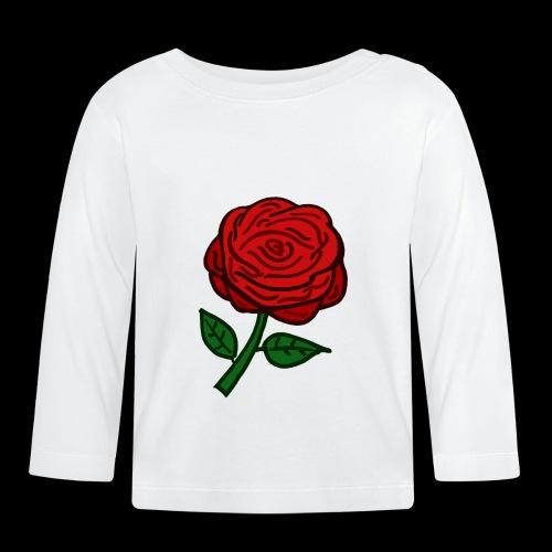 Rote Rose - Baby Langarmshirt