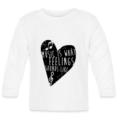 Music is feelings - Langærmet babyshirt