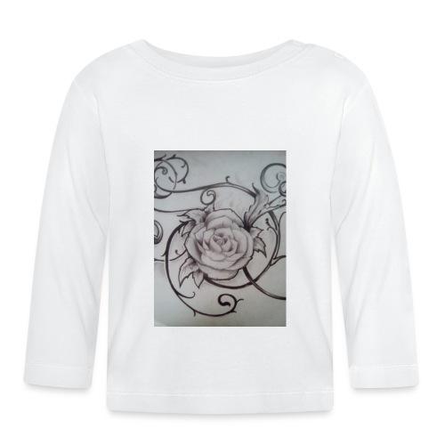 Tattoo Rose - Vauvan pitkähihainen paita