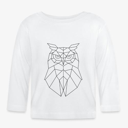 Eule Geometrisch schwarz - Baby Langarmshirt