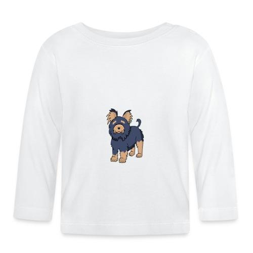 Hund Weiß - Baby Langarmshirt