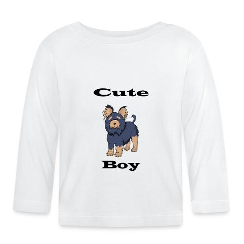 Hund schwarz - Baby Langarmshirt