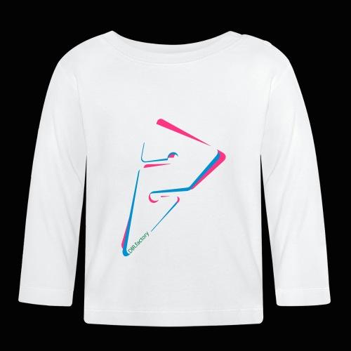 arrow freigestellt mit dirfactorytext - Baby Langarmshirt