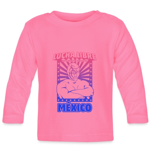 Lucha Libre Mexico Esfumado - Camiseta manga larga bebé