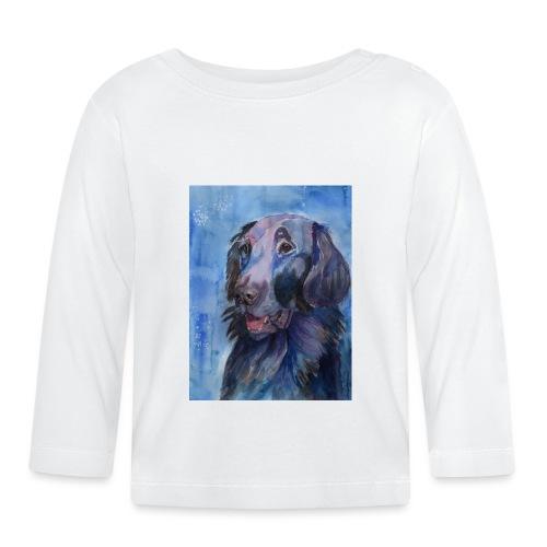 flatcoated retriever - watercolor - Langærmet babyshirt