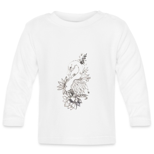 FlowerFlamingo - Langærmet babyshirt