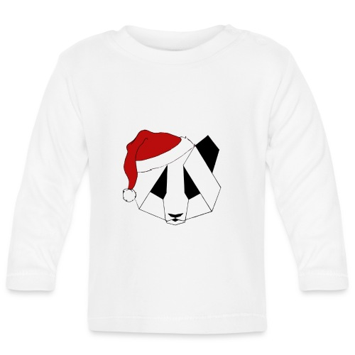 Christmas Panda - Langærmet babyshirt