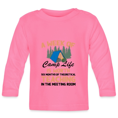 A Week Of Camp Life - Baby Long Sleeve T-Shirt