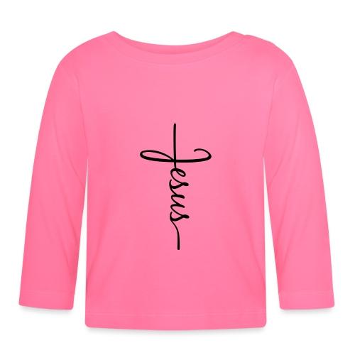 Jesus Kors - Langærmet babyshirt