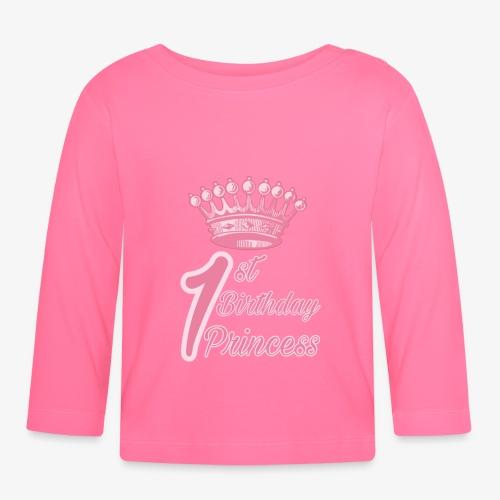 1st Birthday Princess - Maglietta a manica lunga per bambini