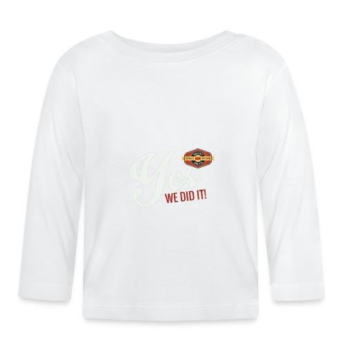 YES-we did it_white - Baby Langarmshirt