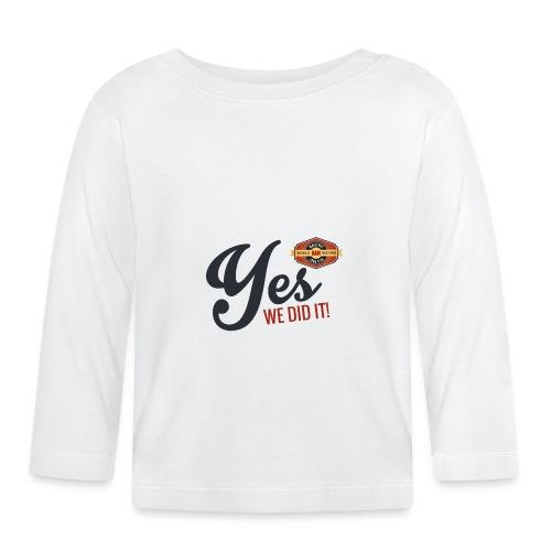 YES-we did it_black - Baby Langarmshirt