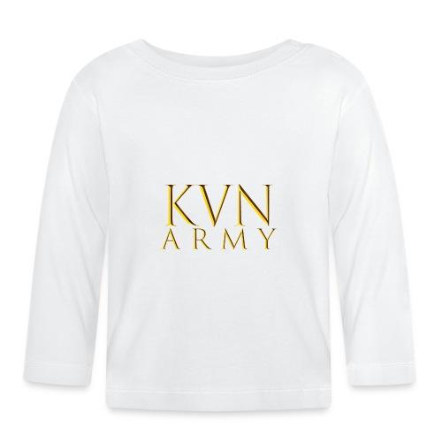 KVN ARMY LOGO GOLD - Baby Langarmshirt
