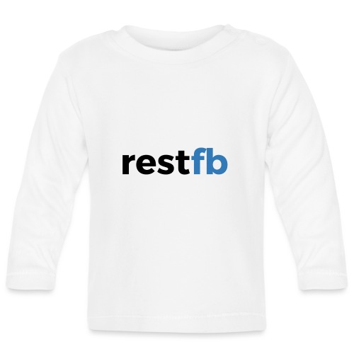 RestFB logo black - Baby Long Sleeve T-Shirt