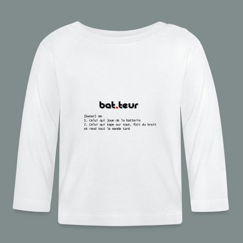 Définition du batteur - T-shirt manches longues Bébé