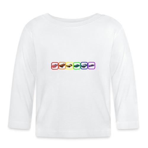 Rainbow Cars - Baby Long Sleeve T-Shirt
