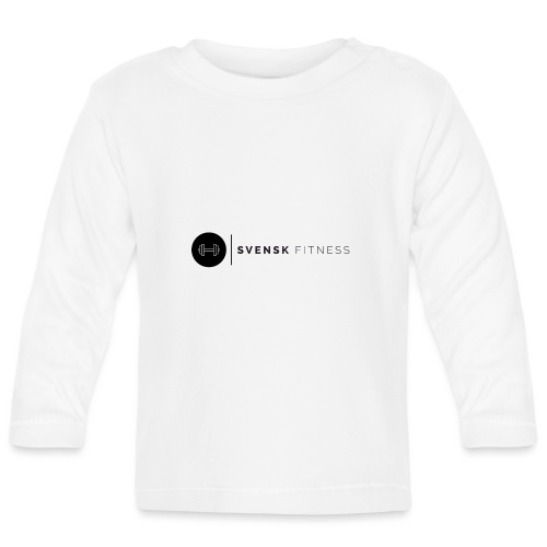 Linne med svart logotyp - Långärmad T-shirt baby