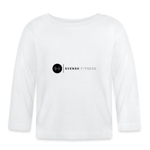 Svart logo - Långärmad T-shirt baby