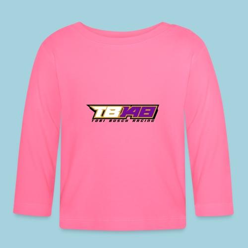 Tobi Logo schwarz - Baby Langarmshirt