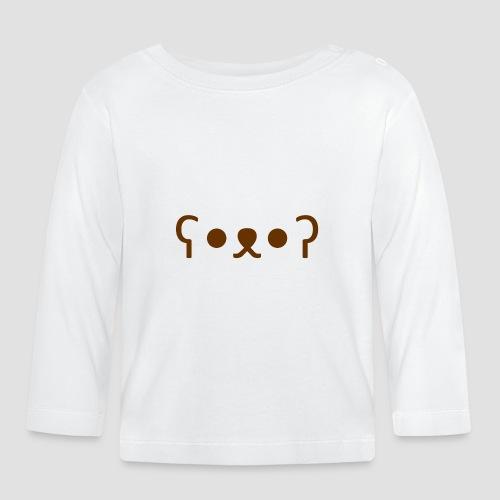 Kuma Kaomoji (Marron) - T-shirt manches longues Bébé