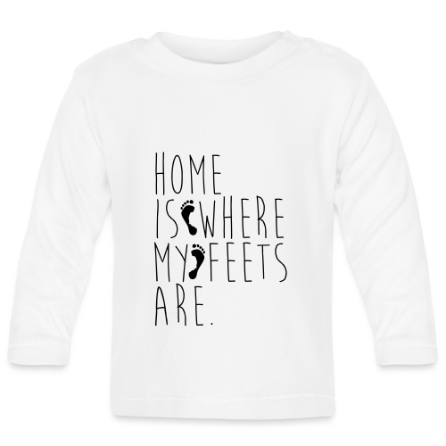 Home is where my feets are - Maglietta a manica lunga per bambini