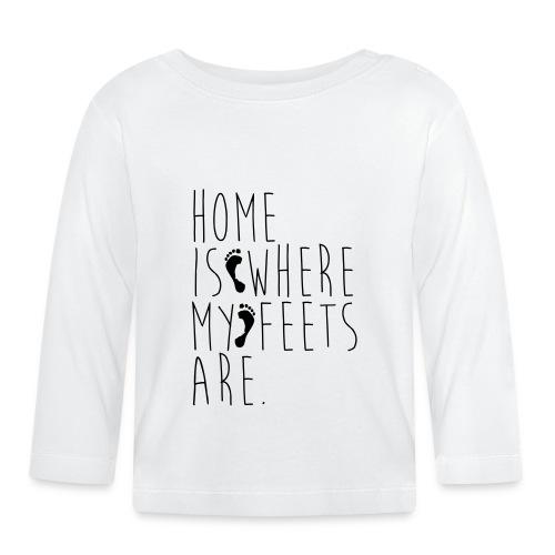 Home is where my feets are - Maglietta a manica lunga per bambini