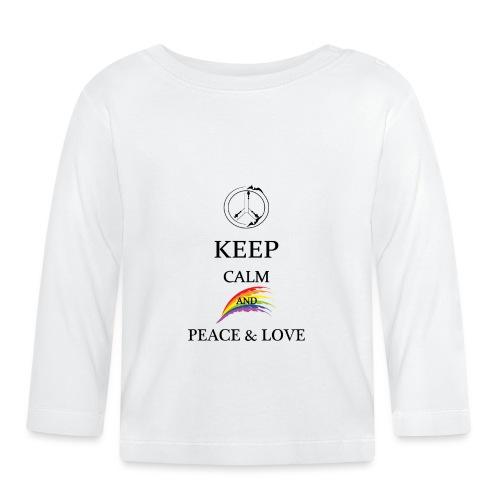 keep calm and Peace & Lov - Maglietta a manica lunga per bambini