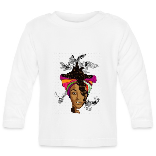 On Angel Wings - Baby Long Sleeve T-Shirt