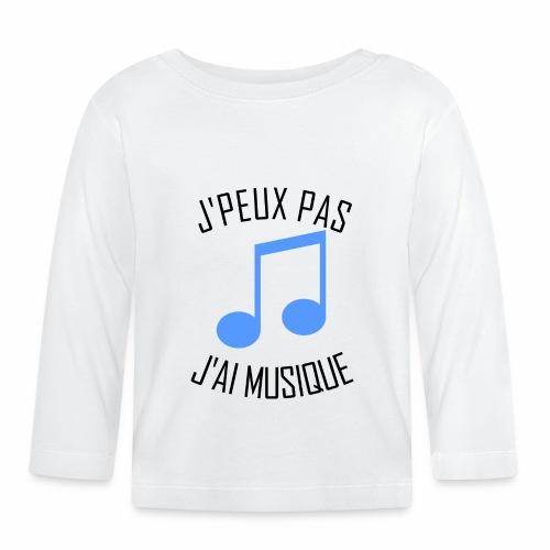 J'peux pas j'ai Musique - T-shirt manches longues Bébé