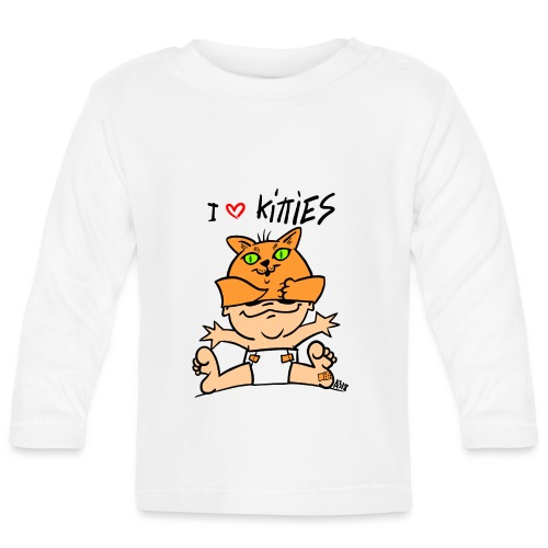 baby i love kitties color - T-shirt
