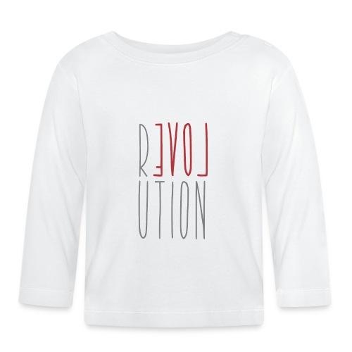 Love Peace Revolution - Liebe Frieden Statement - Baby Langarmshirt