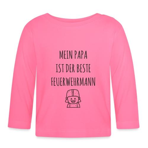 Papa Feuerwehrmann Baby lustig Shirt Geschenk - Baby Langarmshirt