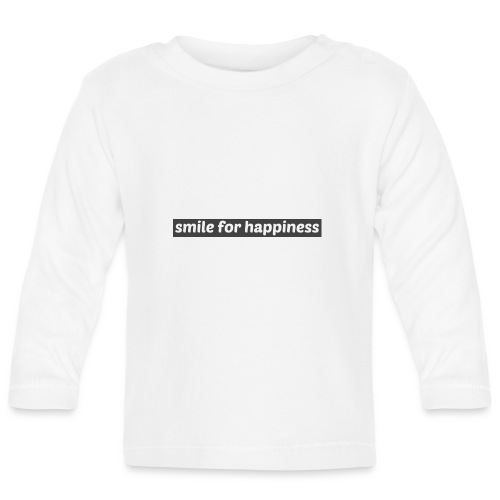 smile for happiness - Långärmad T-shirt baby