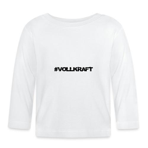 Schriftzug Vollkraft - Baby Langarmshirt