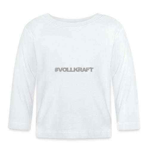 Vollkraft Schriftzug grau - Baby Langarmshirt