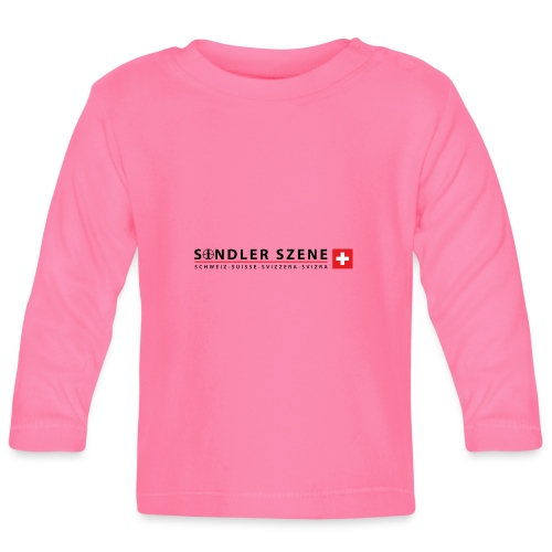 Sondler Szene Schweiz Logo breit - Baby Langarmshirt