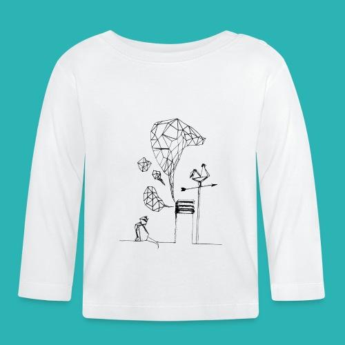 Carta_gatta-png - Maglietta a manica lunga per bambini