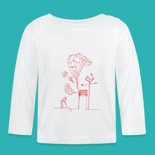 Carta_gatta_pink-png - Maglietta a manica lunga per bambini